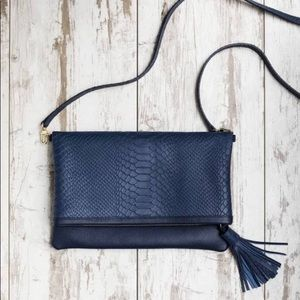 Gigi New York Navy Convertible Clutch Box of Style